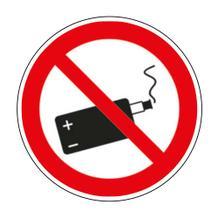 Verbotsschild - E-Zigarette verboten