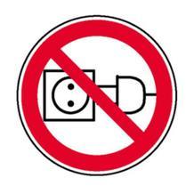 Verbotsschild - Am Kabel ziehen verboten