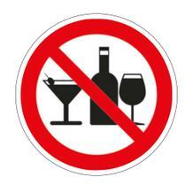 Verbotsschild - Alkoholverbot