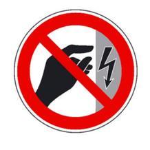 Verbotsschild - Nicht berühren, Gehäuse unter Spannung