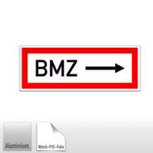 Hinweisschild für die Feuerwehr BMZ ---->