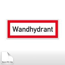 Hinweisschild für die Feuerwehr Wandhydrant