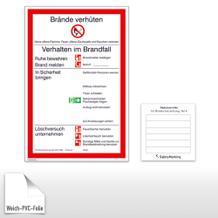 Aushang - Brandschutz Brandschutzordnung Teil A