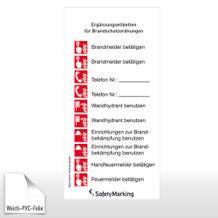 Ergänzungsetiketten für Brandschutzordnung BRD/LK München und Stadt München ISO7010