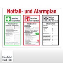 Aushang - Notfall- und Alarmplan