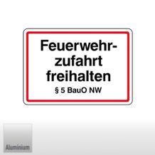 Feuerwehrzufahrt freihalten § 5 BauO NW (Nordrhein-Westfalen)