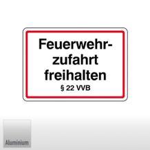 Feuerwehrzufahrt freihalten § 22 VVB (Freistaat Bayern)