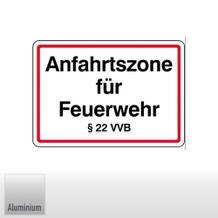 Anfahrtszone für Feuerwehr § 22 VVB (Freistaat Bayern)