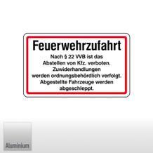 Feuerwehrzufahrt Nach § 22 VVB ist das Abstellen von ...