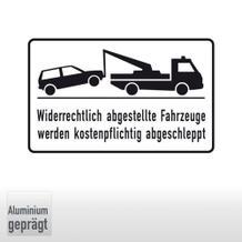 Haltverbotsschild Widerrechtlich abgestellte Fahrzeuge werden