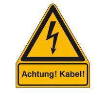 Warn-Kombischild Achtung! Kabel!