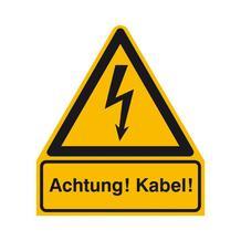Warn-Kombischild - Achtung! Kabel!