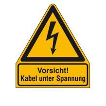 Warn-Kombischild Vorsicht! Kabel unter Spannung