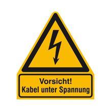 Warn-Kombischild - Vorsicht! Kabel unter Spannung