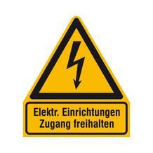 Warn-Kombischild - Elektrische Einrichtungen Zugang freihalten