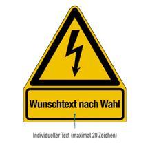 Warn-Kombischild Individuelle Gestaltung