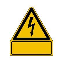 Warn-Kombischild - Gefährliche elektrische Spannung - mit individuellem Text