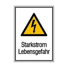 Warn-Kombischild - Starkstrom Lebensgefahr