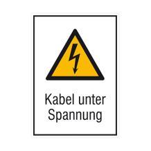 Warn-Kombischild - Kabel unter Spannung