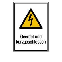 Warn-Kombischild - Geerdet und kurzgeschlossen