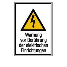 Warn-Kombischild - Warnung vor Berührung der elektrischen Einrichtungen