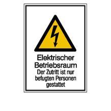 Warn-Kombischild - Elektrischer Betriebsraum
