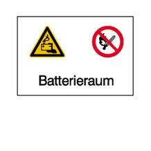 Warn-Kombischild - Batterieraum
