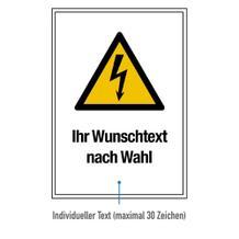 Warn-Kombischild - Warnung vor gefährlicher elektrischer Spannung
