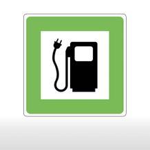 Hinweisschild für Tankanlagen und Garagen E-Tankstelle für Elektroauto, Elektrotankstelle
