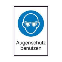 Gebots-Kombischild - Augenschutz benutzen