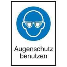 Gebots-Kombischild  Augenschutz benutzen