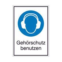 Gebots-Kombischild - Gehörschutz benutzen