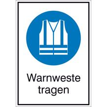 Gebots-Kombischild - Warnweste tragen