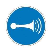 Gebotsschild - Akustisches Signal geben
