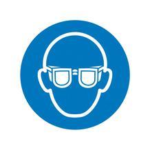 Gebotsschild - Augenschutz benutzen