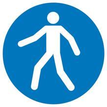 Gebotsschild - Fußgängerweg benutzen