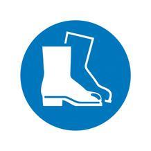 Gebotsschild - Fußschutz benutzen