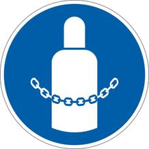 Gebotsschild - Gasflaschen sichern