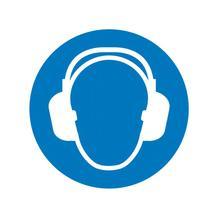 Gebotsschild - Gehörschutz benutzen