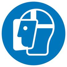 Gebotsschild - Gesichtsschutz benutzen