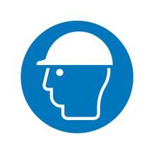 Gebotsschild - Kopfschutz benutzen