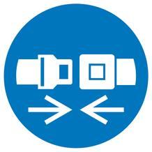 Gebotsschild - Rückhaltesystem benutzen