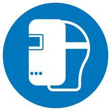 Gebotsschild - Schweißmaske benutzen