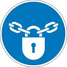 Gebotsschild - Verschlossen halten