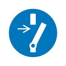 Gebotsschild - Vor Wartung oder Reparatur freischalten