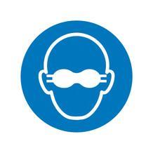 Gebotsschild - Weitgehend lichtundurchlässigen Augenschutz benutzen