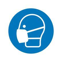 Gebotsschild - Maske benutzen