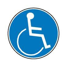 Gebotsschild - Für Rollstuhlbenutzer