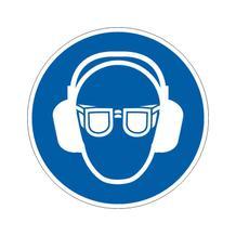 Gebotsschild - Gehör- und Augenschutz benutzen