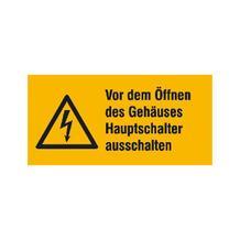 Warn-Kombischild - Vor dem Öffnen des Gehäuses Hauptschalter ausschalten